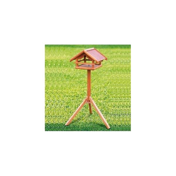 Menjadora de jard per ocells gardennova for Casetes de fusta per jardi