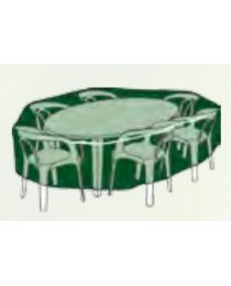Case circular table + chairs set