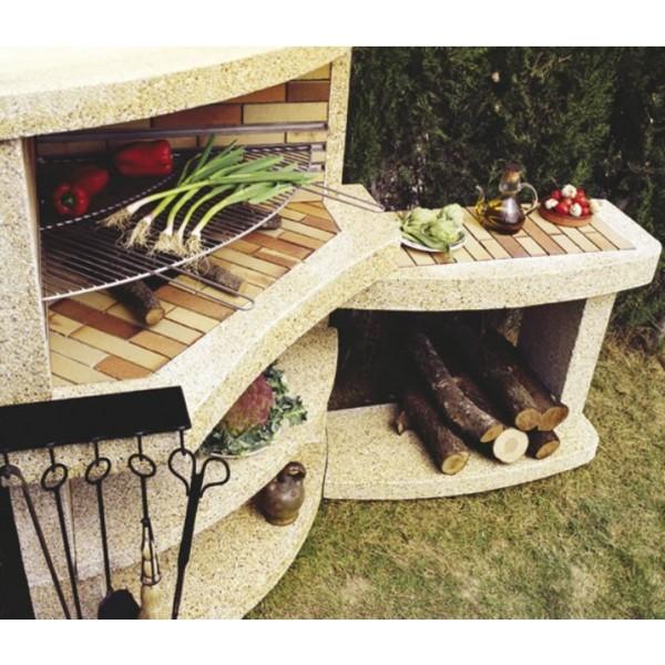 Barbecue bois osona gardennova for Rinconera jardin