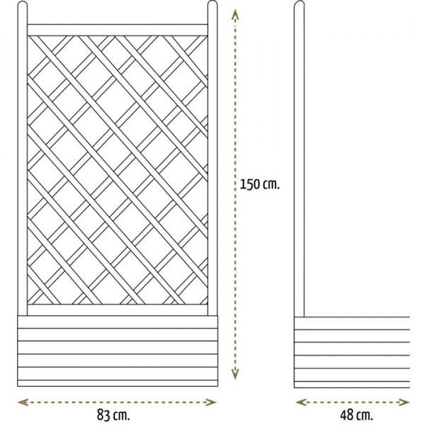 Jardinera rectangular con celos a recta gardennova - Celosia con jardinera ...